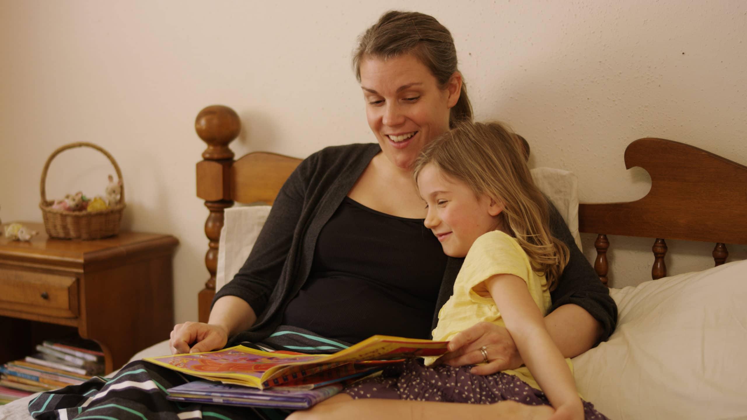 mom & daughter reading; parenting pleasure; special time