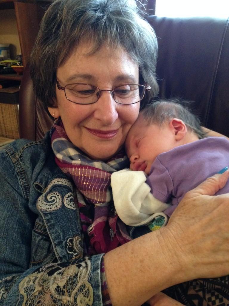 "Minalee meets her new grandchild, Charlotte ""Charlie"" Puhn"