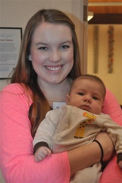 Miranda and Ronan at Baby Connection, Dec 2015