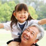 Grandparent and granddaughter