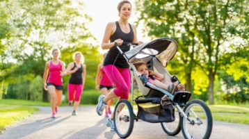 Proper Form for Running or Walking With Baby